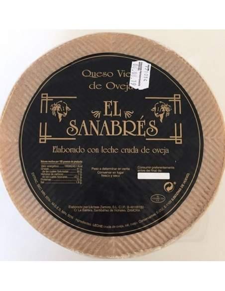 Queso de oveja zamorano El sanabres 3,4 kg.