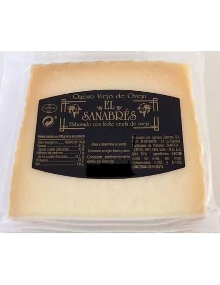 El Sanabres sheep cured cheese 0,8kg.
