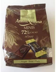 Mini chocolates de cacau 72% Bolsa Antiu Xixona de 1 Kg.