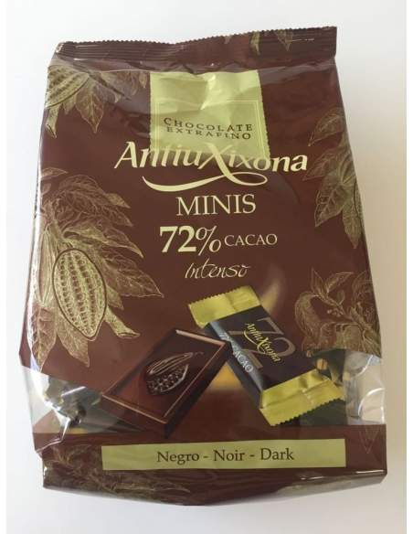 Antiu Xixona cacao 72 % small chocolate bars 1 kg.