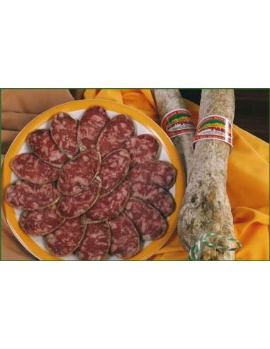 Iberian cured salami of pork Monteparra Guijuelo 1,2 Kg.
