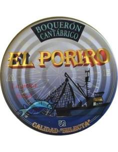 Poriro anchovies in vinegar tin RO-1000.