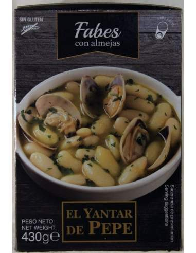 Yantar de Pepe Fabes with cockles ready meals