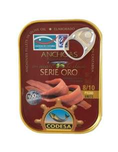 Anchoas Codesa Serie Oro 8/10 filetes.
