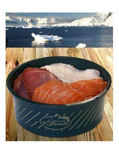El Duende Smoked marinated fish salad jar of 1 kg.
