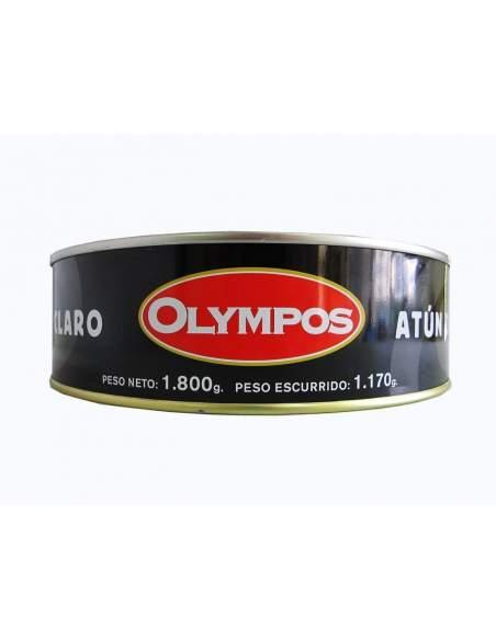 Atum light em picles vermelhos ou molho catalão de 1,8 kg. Olympos