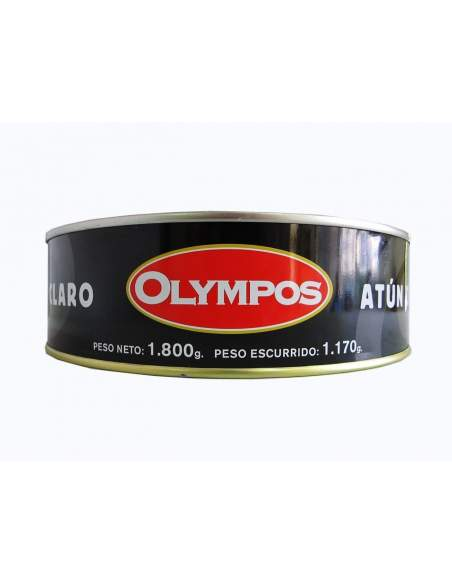 Tonno leggero in salamoia rossa o salsa catalana 1,8 kg. Olympos
