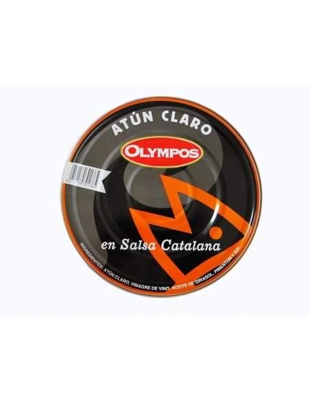 Thon pâle au cornichon rouge ou sauce catalane 1,8 kg. Olympos