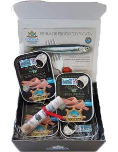 Caisse de 12 boîtes d'anchois Codesa Limited Series 55 grammes