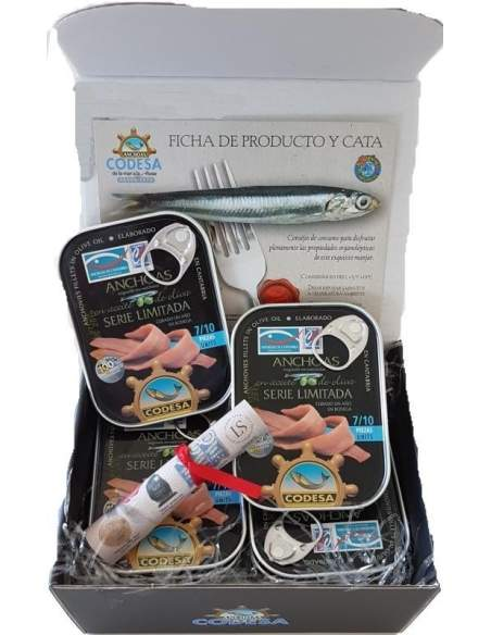 Caso di 12 lattine di alici Codesa serie limitata 55 grammi