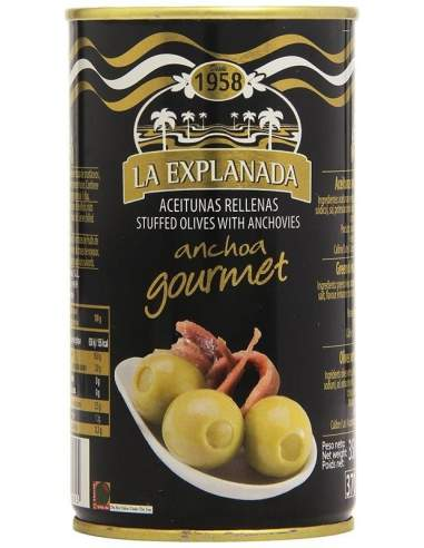 La explanada Gourmet olives filled anchovy 150 g 15 units.