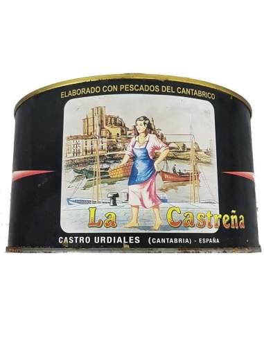 Anchois salés pêche au printemps La Castreña peut contenir 5 kg.