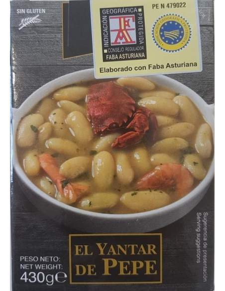 Yantar de Pepe beans with Shellfish 430 grams