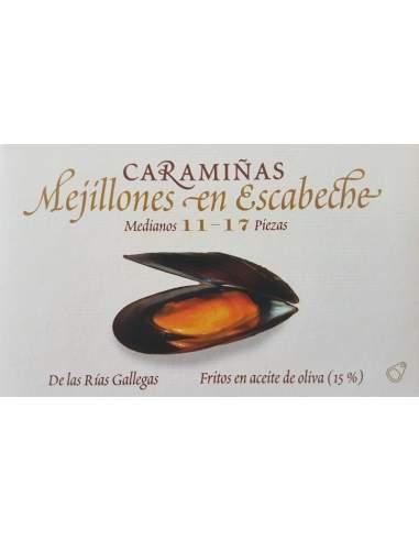 Mejillones Caramiñas Ramon Franco 11/17 pièces.