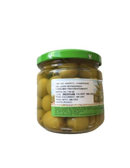 Aceituna Manzanilla Cieza 160/180 tarro cristal 200 gr.
