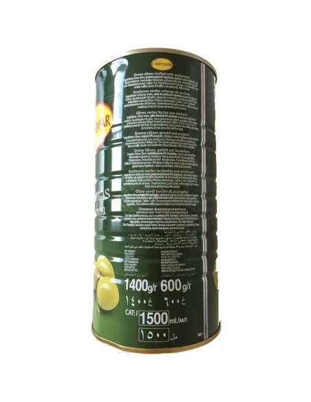 Aceitunas rellenas gigantes lata de 2 kg. de Campomar
