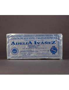 Hard Nougat of Alicante of 200 g. of Adelia Ivañez supreme quality