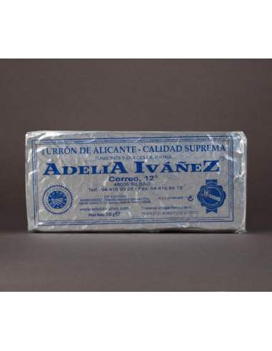 Hard Nougat of Alicante of 200 g. of Adelia Ivañez supreme quality