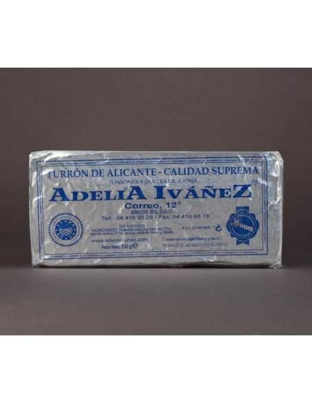 Touron dur d'Alicante de 200 g. d'Adelia Ivañez qualité suprême