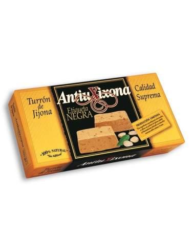 Nougat von Jijona Antiu Xixona schwarzes Etikett mit höchster Qualität 150 g.