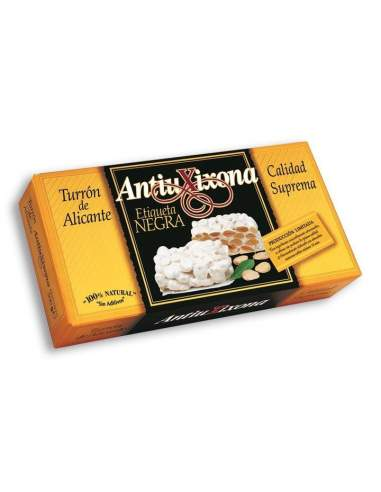 Antiu Xixona black label Alicante hard nougat, supreme quality 150 g.