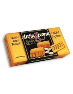 Torrado gema de ovo tostada Antiu Xixona rótulo preto 250 g.