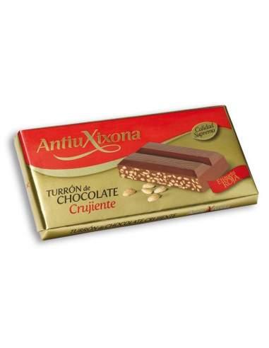 Nougat au Chocolat Croquant Antiu Xixona étiquette rouge 200 g