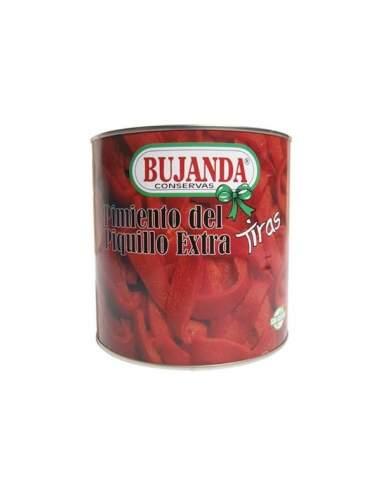 Des lanières de poivrons piquillo première bouteille de 2650 ml.