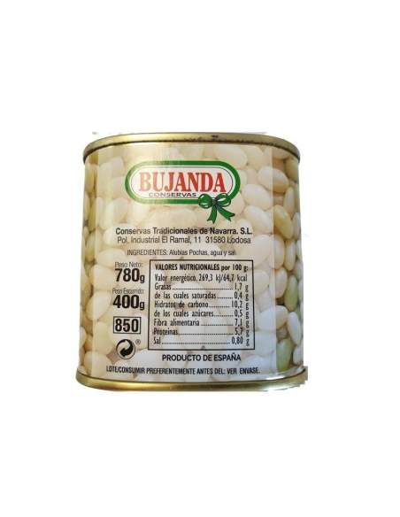 Bujanda Pochas white and green (beans) of Navarra Bujanda 2/3 servings 850 ml.