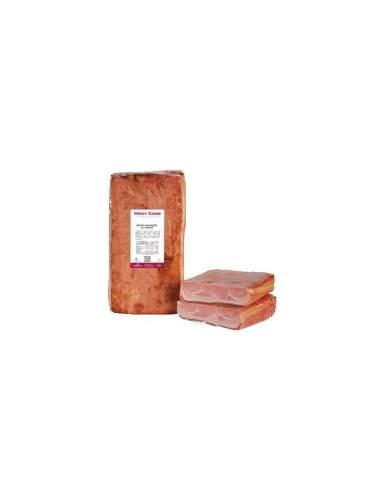 Bacon assado defumado, com pele, 4...