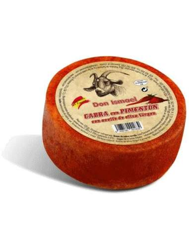 Goat cheese cured with paprika with...
