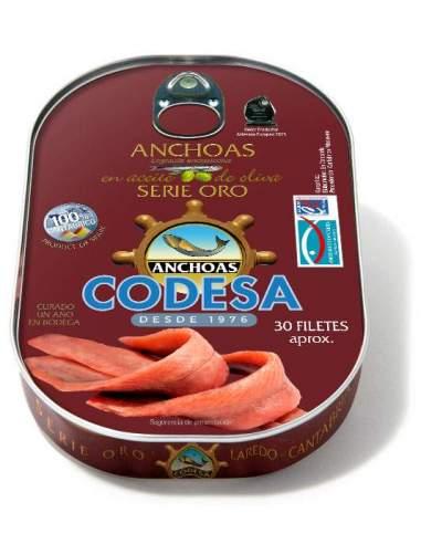 Filetes de anchoa serie oro de Codesa 190 g.