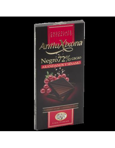 Tableta de chocolate negro 72% con...