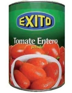 Bote de tomate de pera entero pelado marca Éxito 1/2 kg.