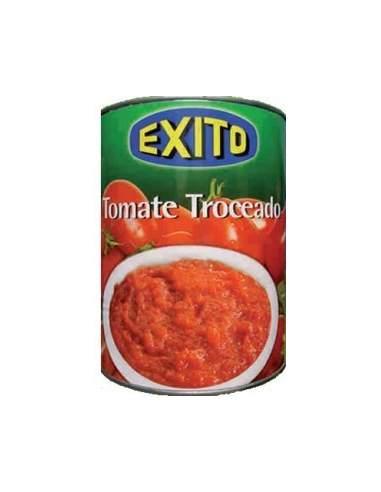 Bote de tomate troceado marca Éxito 1/2 kg.