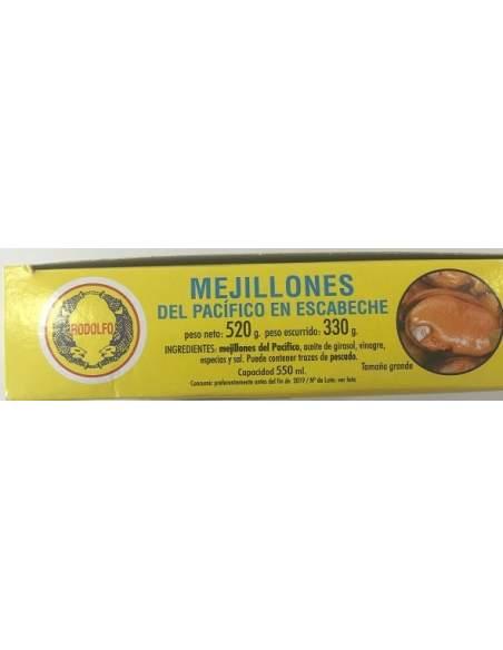 Mejillones en escabeche Rodolfo RO-550 20/25 piezas.