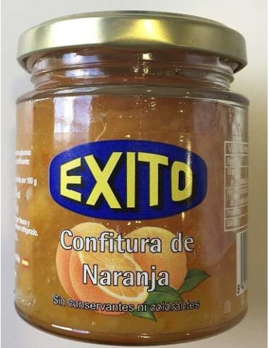 Éxito orange jam glass jar 275 gr.