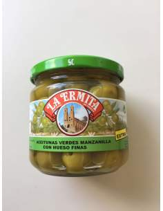 Cieza Olives anchovy flavour 160/180 caliber glass jar 200 gr.