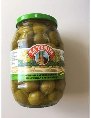 Manzanilla olive Cieza alici sapore 160/180 vaso di vetro 1 Kg.