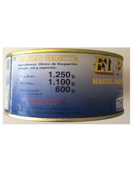 Boquerones en Vinagre Ipamar  tarrina de 1kg.