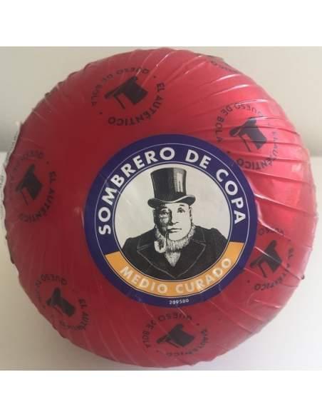 Queso  bola edam Semicurado Sombrero de copa 1,800 kg.