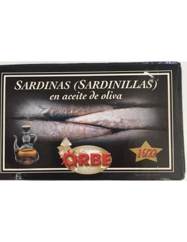 Sardinillas en aceite de oliva Orbe 16/22