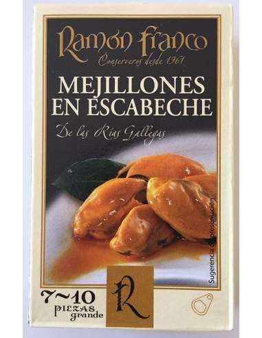 Mejillones en escabeche Ramon Franco RO-120 7/10 piezas.