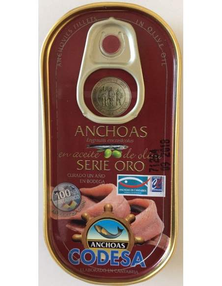 Filetes de anchoa Codesa RR-50 Serie Oro