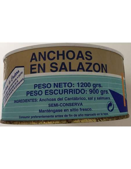 Anchoas en salazón La Nutria RO-1400