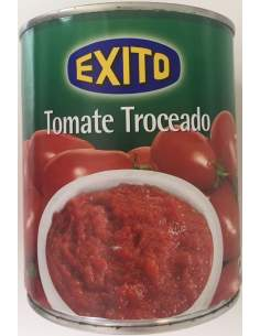 Exito tomato pear peeled tin 1kg.