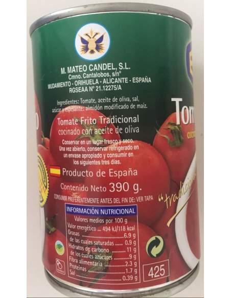 Bote de tomate frito con aceite de oliva marca Éxito 1/2 kg.