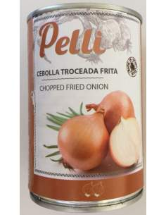 Cebolla frita con aceite de oliva Pelli